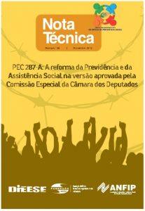 PEC 287-A: A reforma da Previdência e da Assistência Social na versão aprovada pela Comissão Especial da Câmara dos Deputados