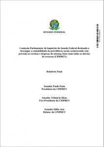 Relatório Final da CPI da Previdência