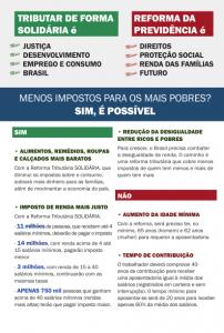 1º maio Reforma Tributária Solidária
